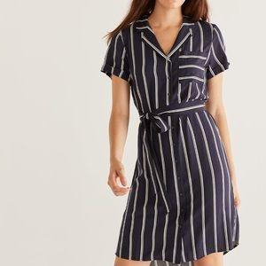 3/$25 Reitmans Striped Shirt Dress XL